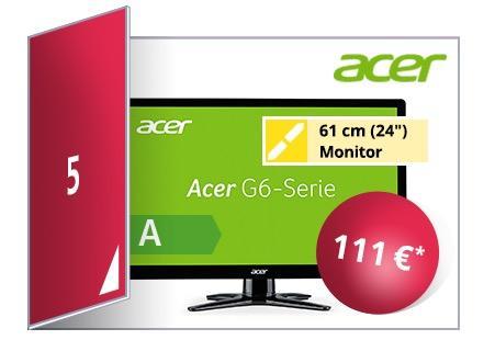 Acer G6 G246HLBbid 61cm (24 Zoll) Monitor - jetzt 20% billiger