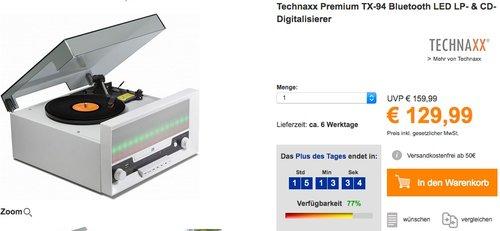 Technaxx TX-94 Bluetooth LED CD-Digitalisierer  - jetzt 16% billiger