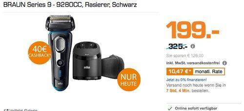 BRAUN Series 9 - 9280CC Rasierer - jetzt 22% billiger