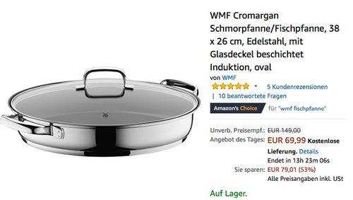 WMF Cromargan Schmorpfanne/Fischpfanne - jetzt 21% billiger