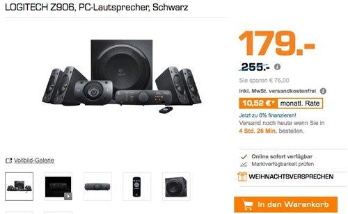 LOGITECH Z906 PC-Lautsprecher - jetzt 25% billiger