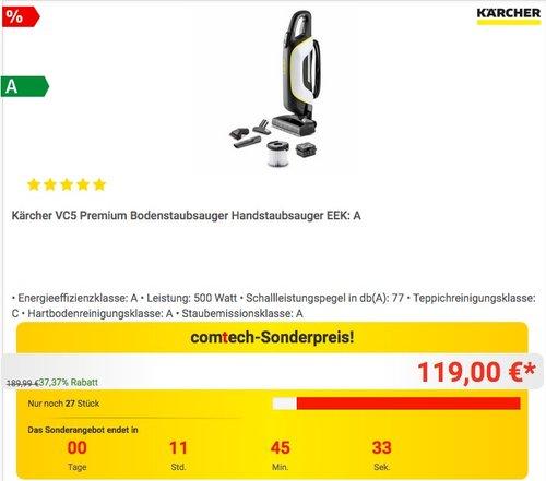 Kärcher VC5 Premium Bodenstaubsauger - jetzt 14% billiger
