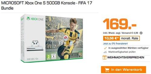 MICROSOFT Xbox One S 500GB Konsole - FIFA 17 Bundle - jetzt 29% billiger