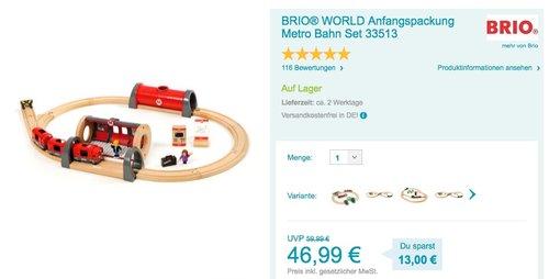 Brio 33513 - BRIO Metro Bahn Set  - jetzt 8% billiger