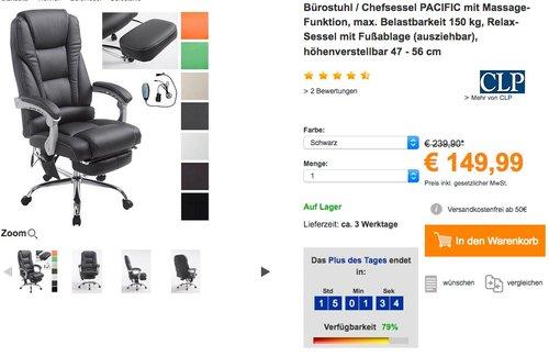 CLP Bürostuhl Chefsessel PACIFIC - jetzt 17% billiger