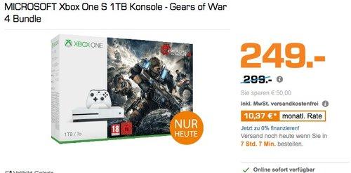 MICROSOFT Xbox One S 1TB Konsole - Gears of War 4 Bundle - jetzt 13% billiger