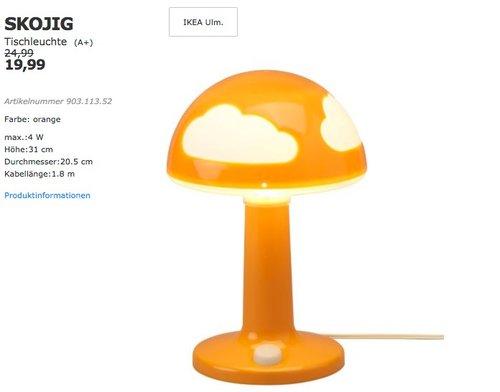IKEA SKOJIG Tischleuchte - jetzt 20% billiger
