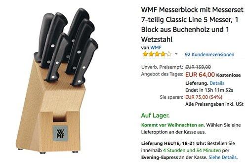 WMF Messerblock mit Messerset 7-teilig Classic Line - jetzt 20% billiger