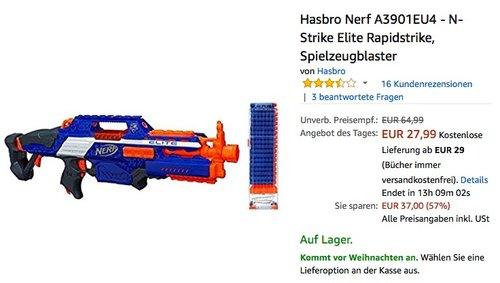 Hasbro Nerf A3901EU4 - N-Strike Elite Rapidstrike Spielzeugblaster - jetzt 28% billiger