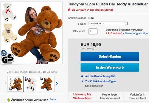 Teddybär 90cm - jetzt 17% billiger