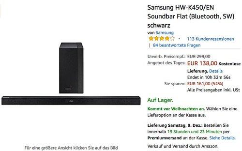 Samsung HW-K450/EN Soundbar - jetzt 33% billiger