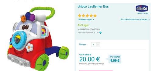 chicco Lauflerner Bus - jetzt 16% billiger