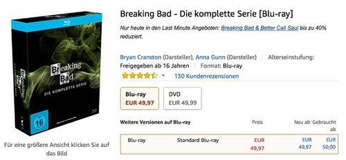 Breaking Bad - Die komplette Serie [Blu-ray] - jetzt 20% billiger