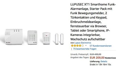 LUPUSEC XT1 Smarthome Funk-Alarmanlage Starter Pack - jetzt 31% billiger