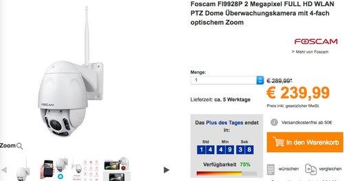 Foscam FI9928P Überwachungskamera  - jetzt 15% billiger