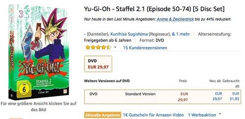 Yu-Gi-Oh - Staffel 2.1 (Episode 50-74) [5 Disc Set] - jetzt 25% billiger
