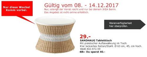 IKEA SANDHAUG Tabletttisch - jetzt 58% billiger