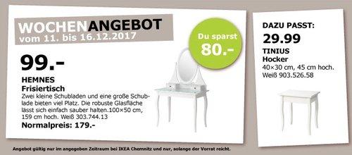 IKEA HEMNES Frisiertisch - jetzt 45% billiger