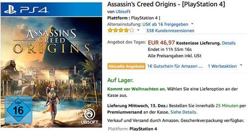 Assassin's Creed Origins - [PlayStation 4] - jetzt 16% billiger