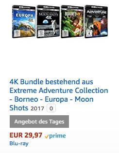 4K Bundle bestehend aus  Extreme Adventure Collection - Borneo - Europa - Moon Shots - jetzt 37% billiger