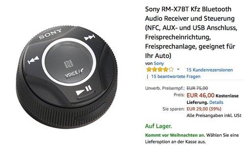 SONY RM-X7BT Kfz Bluetooth-Adapter - jetzt 26% billiger