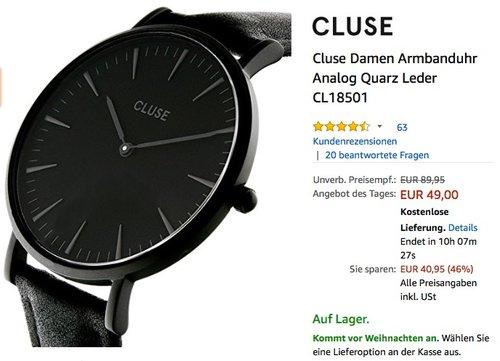 Cluse Damenuhr CL18501 - jetzt 21% billiger
