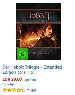 Der Hobbit Trilogie - Extended Edition [Blu-ray] - jetzt 17% billiger