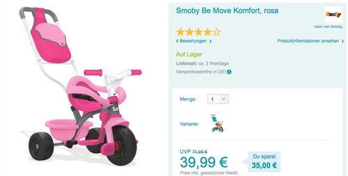 Smoby Be Move Komfort - jetzt 13% billiger