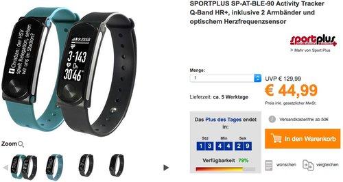SPORTPLUS Activity Tracker Q-Band HR+ - jetzt 25% billiger