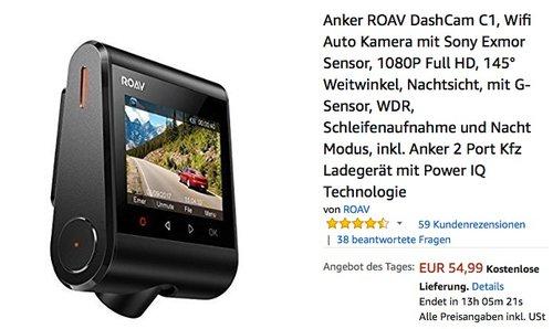 Anker ROAV DashCam C1 - jetzt 26% billiger
