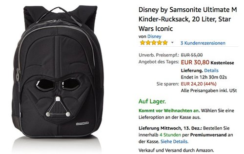 Disney by Samsonite Ultimate M Kinder-Rucksack, 20 Liter, Star Wars Iconic - jetzt 23% billiger