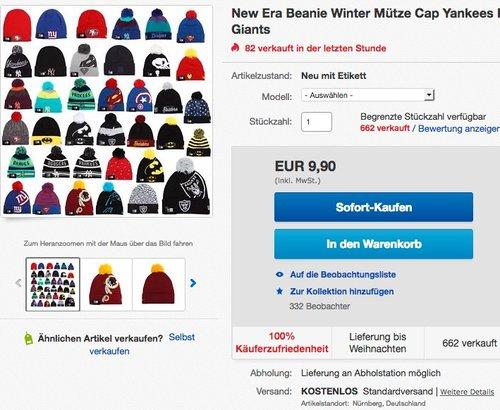 New Era Beanie Winter Mütze  - jetzt 45% billiger