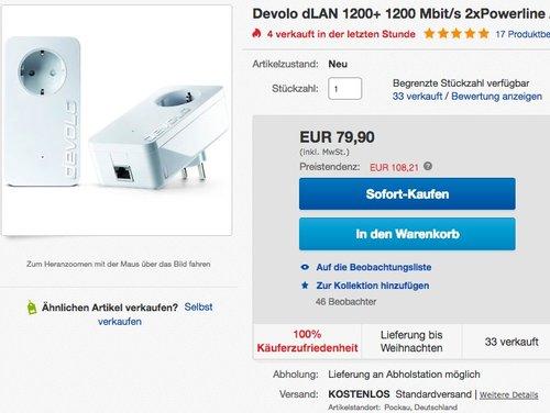 devolo dLAN 1200+ Starter Kit Powerline - jetzt 19% billiger