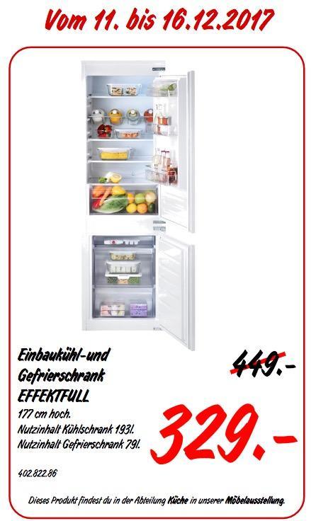 IKEA EFFEKTFULL Einbaukühl- und -Gefrierschrank - jetzt 27% billiger