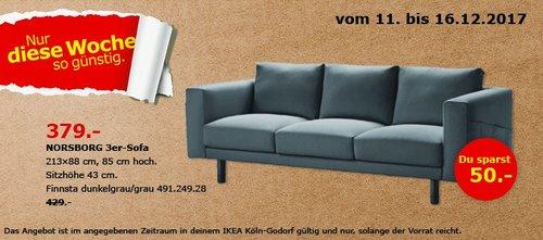 IKEA NORSBORG 3er-Sofa - jetzt 12% billiger