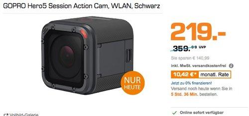 GoPro HERO5 Session Action Kamera - jetzt 27% billiger
