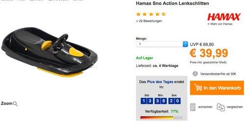 Hamax Sno Action Schlitten - jetzt 15% billiger