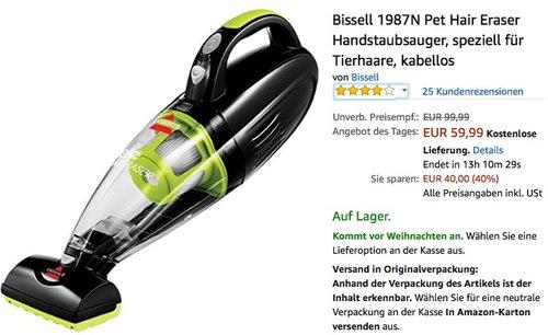 Bissell 1987N Pet Hair Eraser Handstaubsauger - jetzt 19% billiger