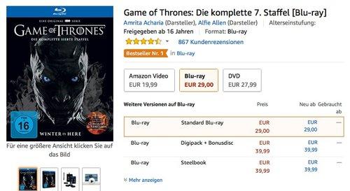 Game of Thrones: Die komplette 7. Staffel [Blu-ray] - jetzt 19% billiger