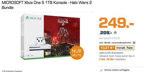 MICROSOFT Xbox One S 1TB Konsole - Halo Wars 2 Bundle - jetzt 16% billiger
