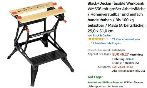 Black+Decker flexible Werkbank WM536 - jetzt 16% billiger