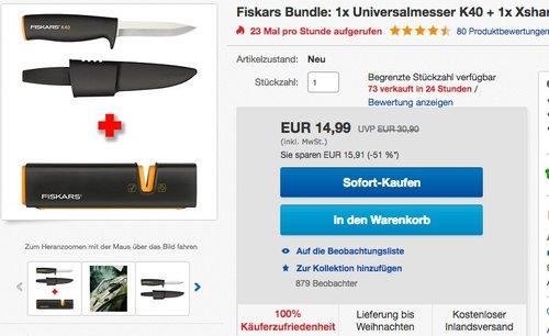 Fiskars Bundle - jetzt 24% billiger