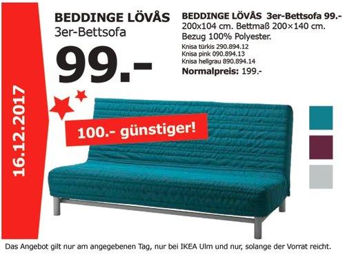 IKEA BEDDINGE LÖVAS 3er-Bettsofa - jetzt 50% billiger