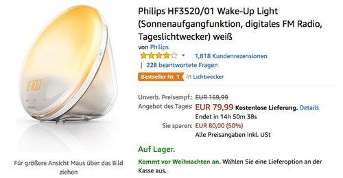 Philips HF3520/01 Wake-Up Light  - jetzt 32% billiger