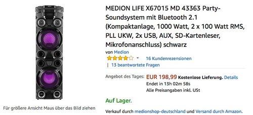 MEDION LIFE X67015 MD 43363 Party-Soundsystem - jetzt 20% billiger