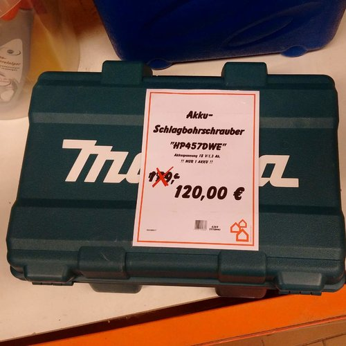 Makita HP457DWE Akku- Schlagbohrschrauber - jetzt 28% billiger