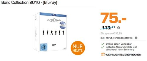 Bond Collection 2016 - (Blu-ray) - jetzt 17% billiger