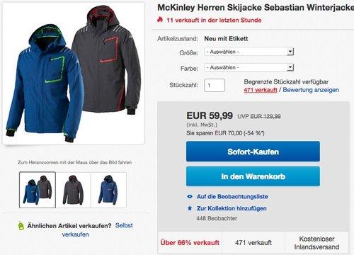 McKinley Herren Skijacke Sebastian - jetzt 23% billiger