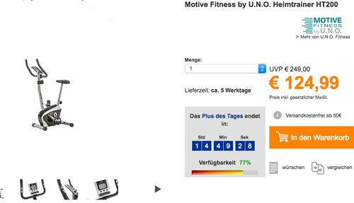 Motive Fitness by U.N.O. Heimtrainer HT 400 - jetzt 22% billiger