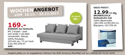 IKEA ASARUM 3er-Bettsoffa - jetzt 15% billiger